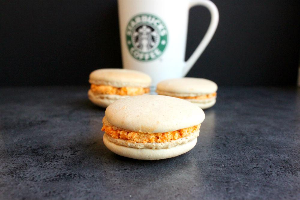 Starbucks Pumpkin Spice Latte Macarons The Simple Sweet