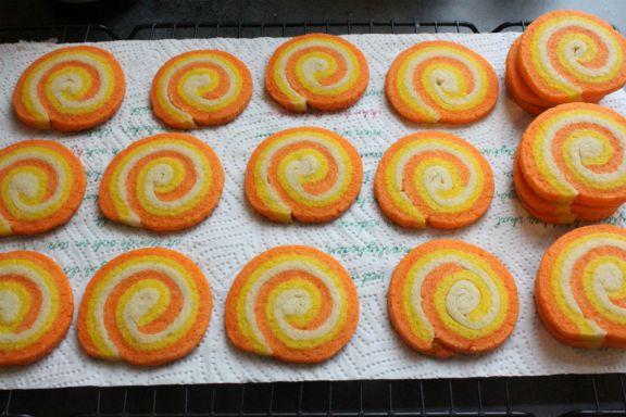Halloween swirl cookies